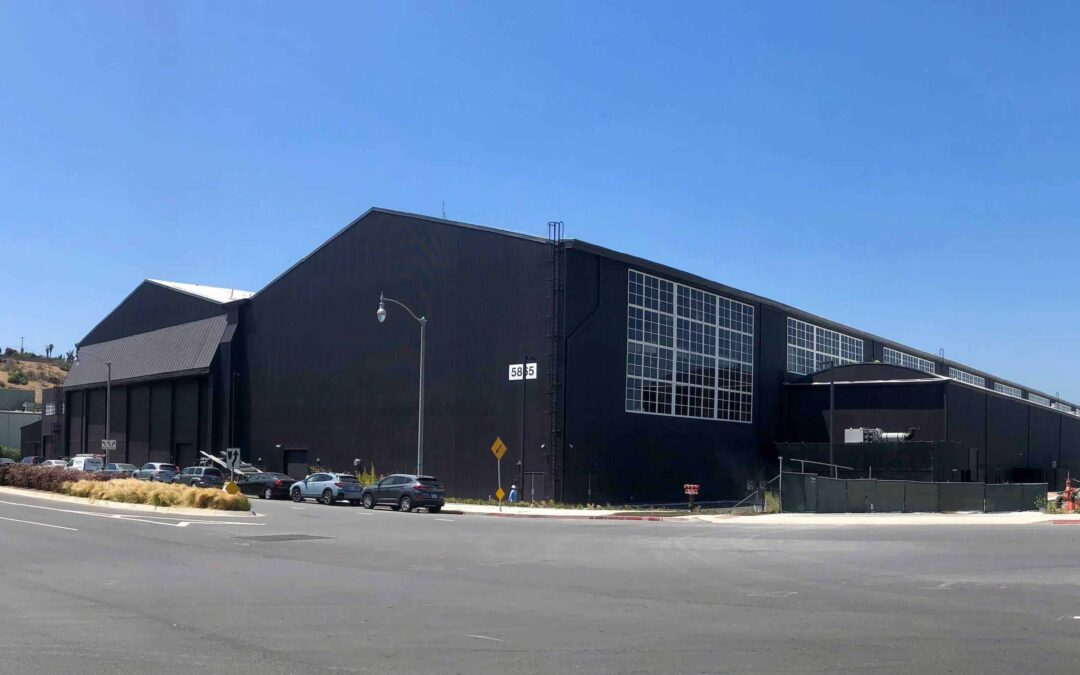 """Reclaimed timbers from the historic """"Spruce Goose"""" hangar"""