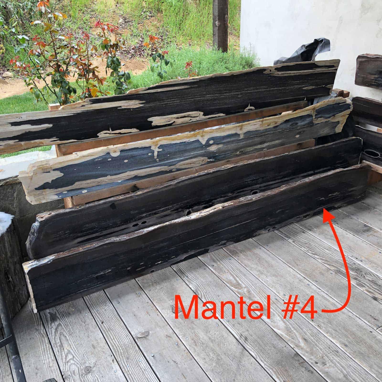 Petrified Wood Mantel 4