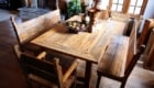 Sanded Douglas Fir Table Benches 1 140x80