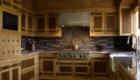 Surfaced Chestnut Walnut Kitchen Cabinets 140x80