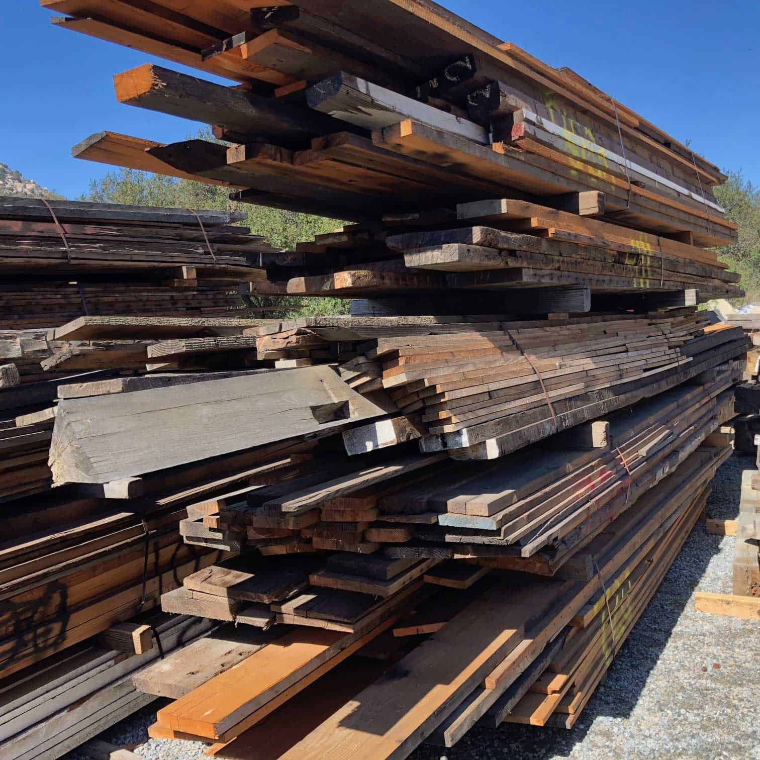Reclaimed Wood Saw Drop