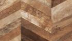 Chevron Patina Teak Plywood 140x80