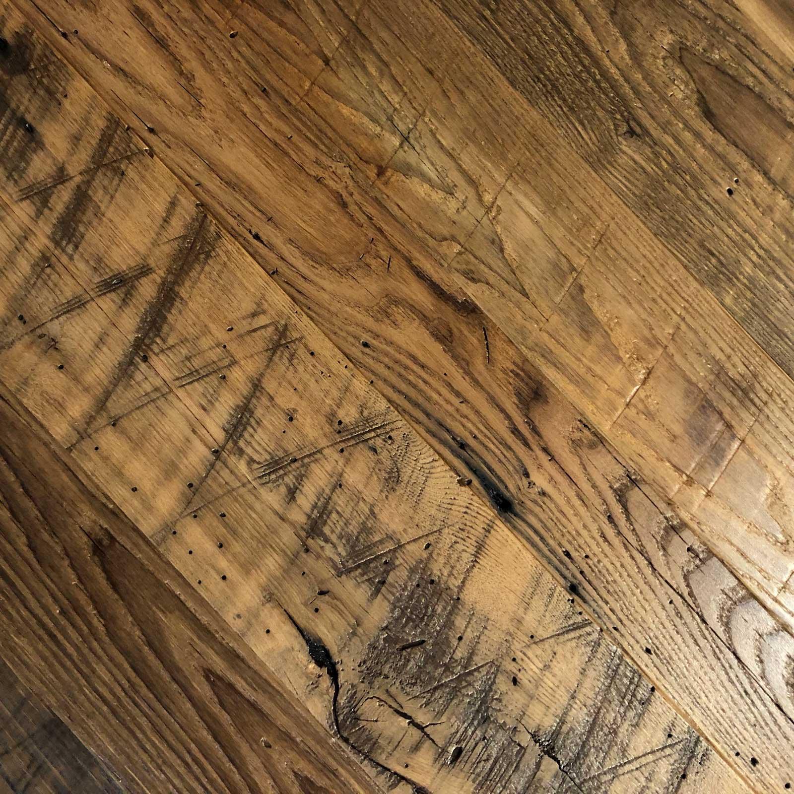 1 Semi Surfaced Wormy Chestnut Flooring Copy