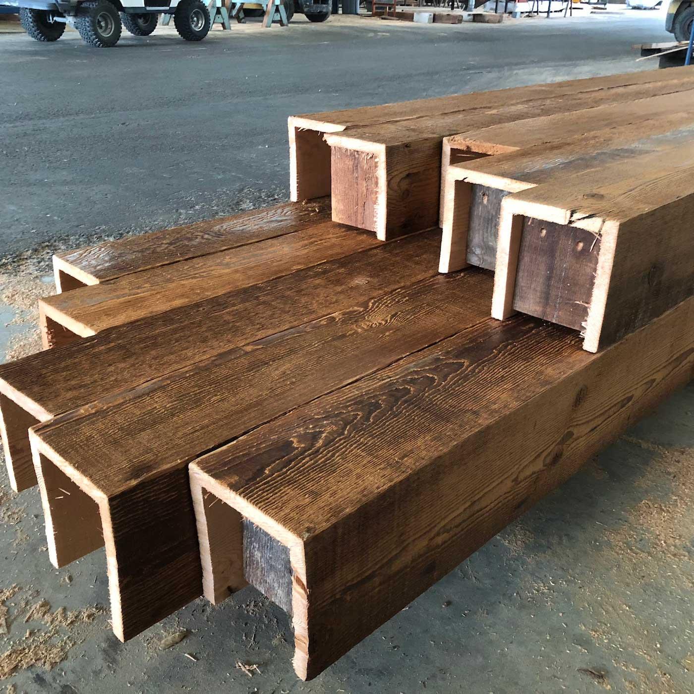 Sanded Douglas Fir Box Beams 1 - Box Beam Fabrication