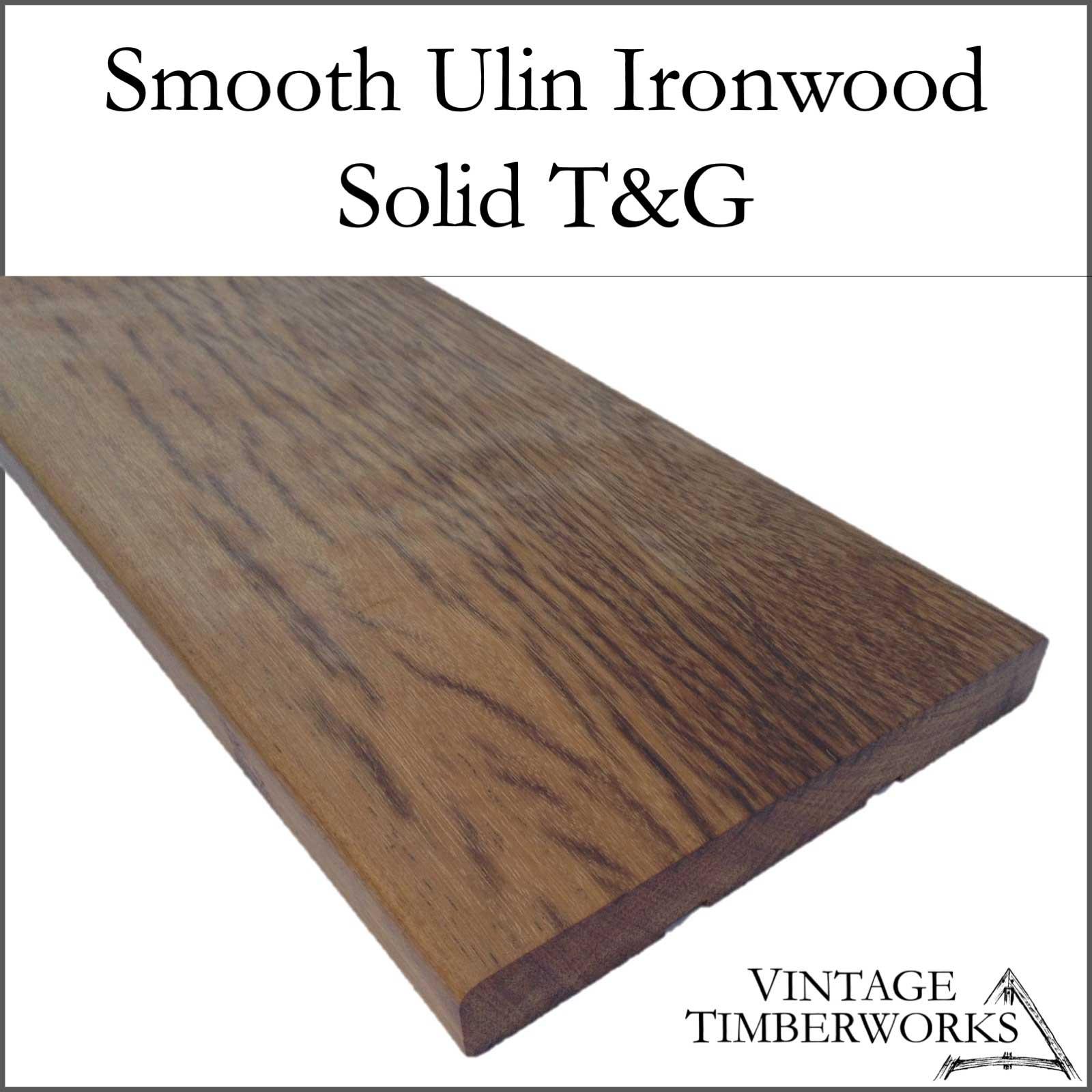 Smooth Ulin Ironwood Solid Decking - Ulin Ironwood