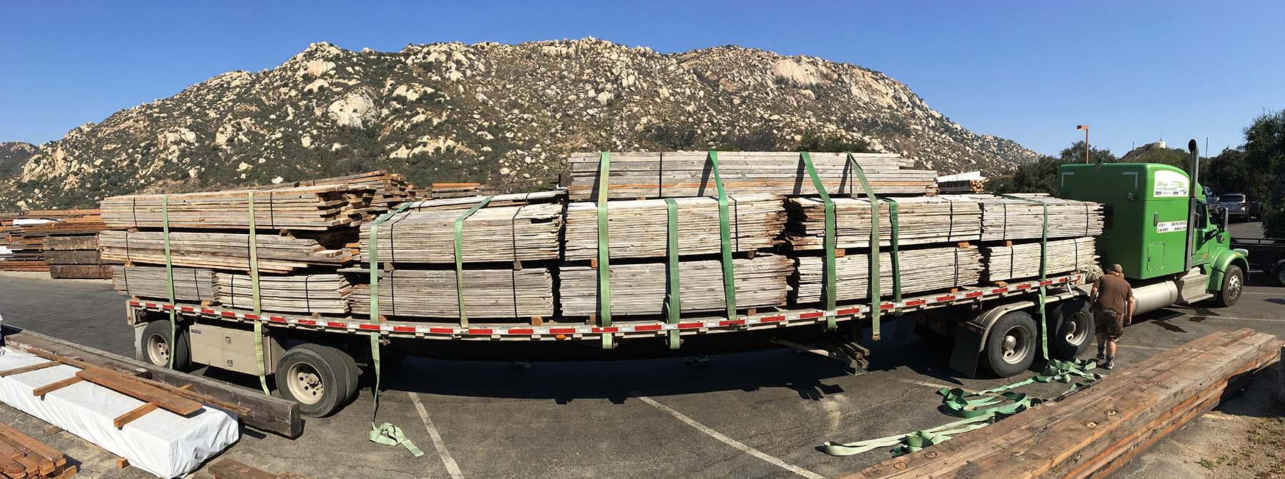 as is gray board truckload - Reclaimed Planking Gray Board