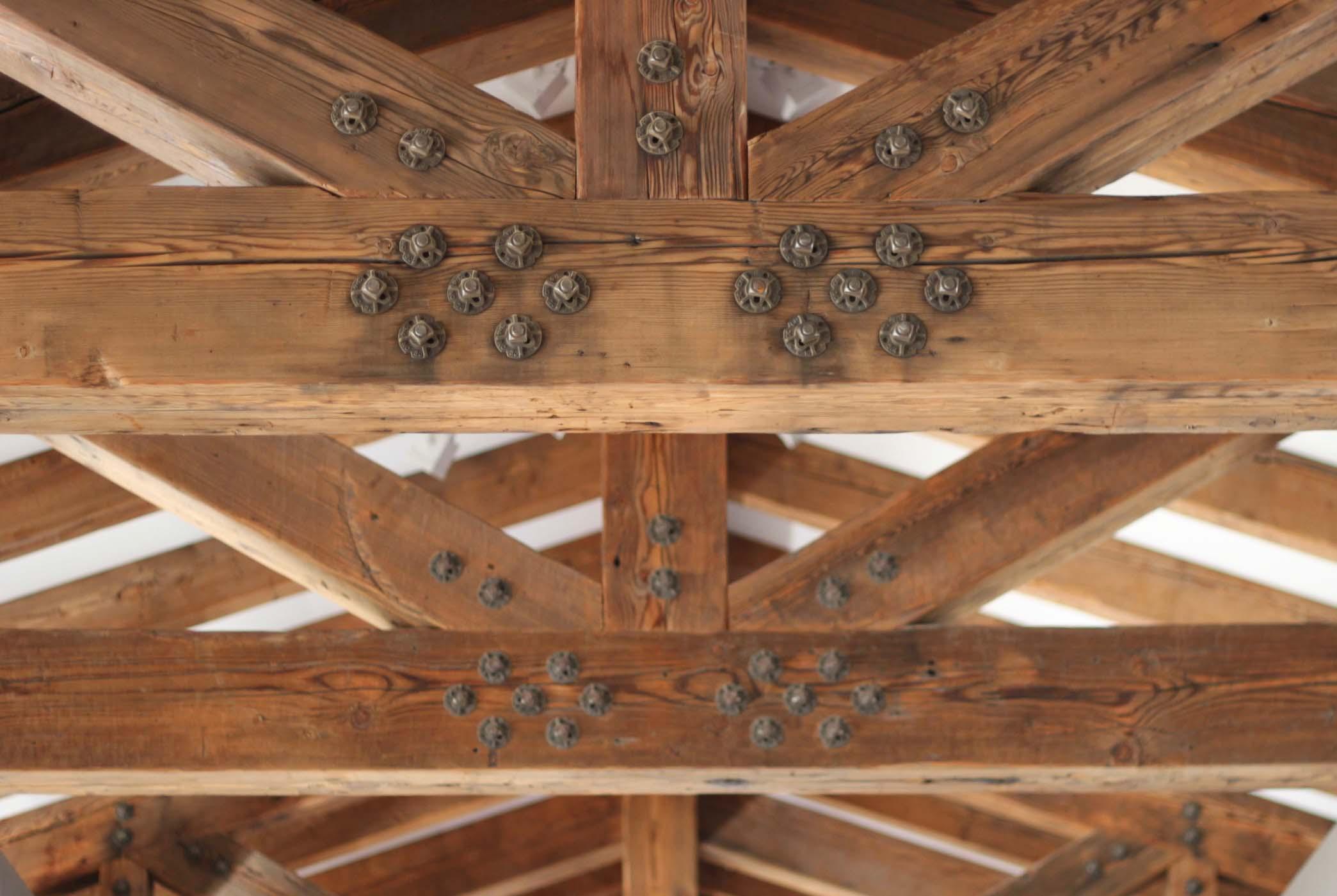 ground douglas beams10 - Vintage Reclaimed Douglas Fir