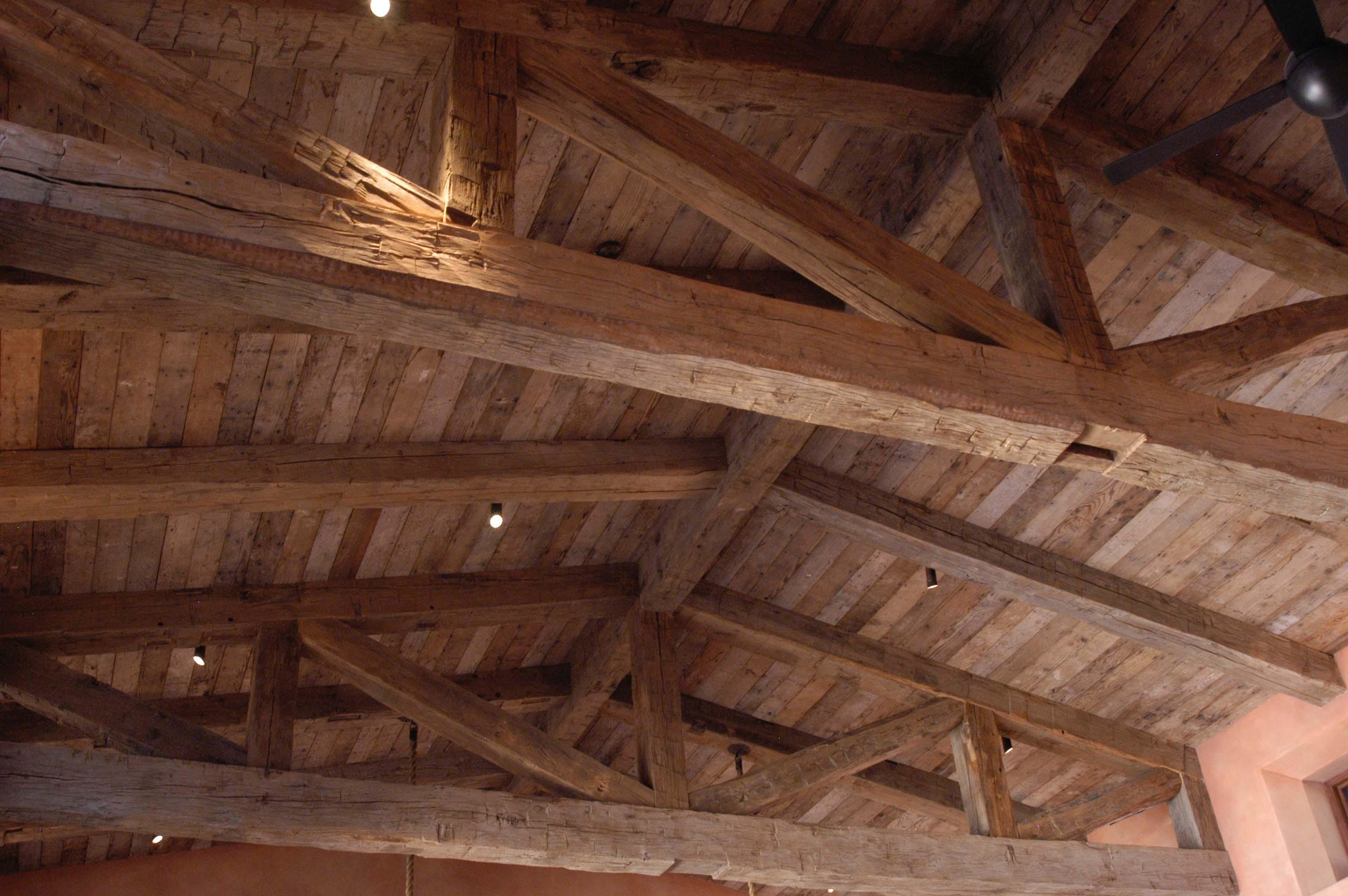 hewn hardwood beams05 - Reclaimed Hardwood Barn Timbers
