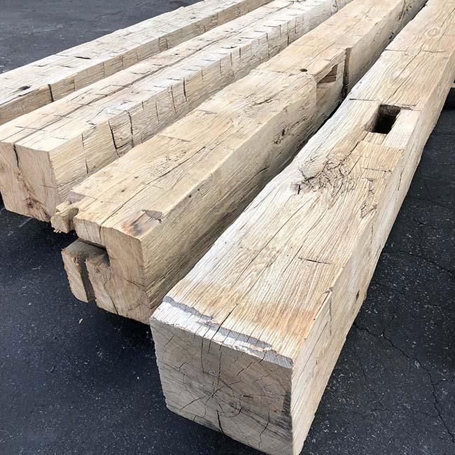 hewn hardwood beams14 - Reclaimed Hardwood Barn Timbers