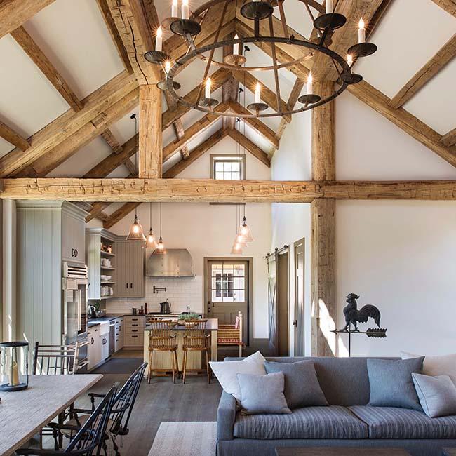 hewn hardwood beams21 - Reclaimed Hardwood Barn Timbers