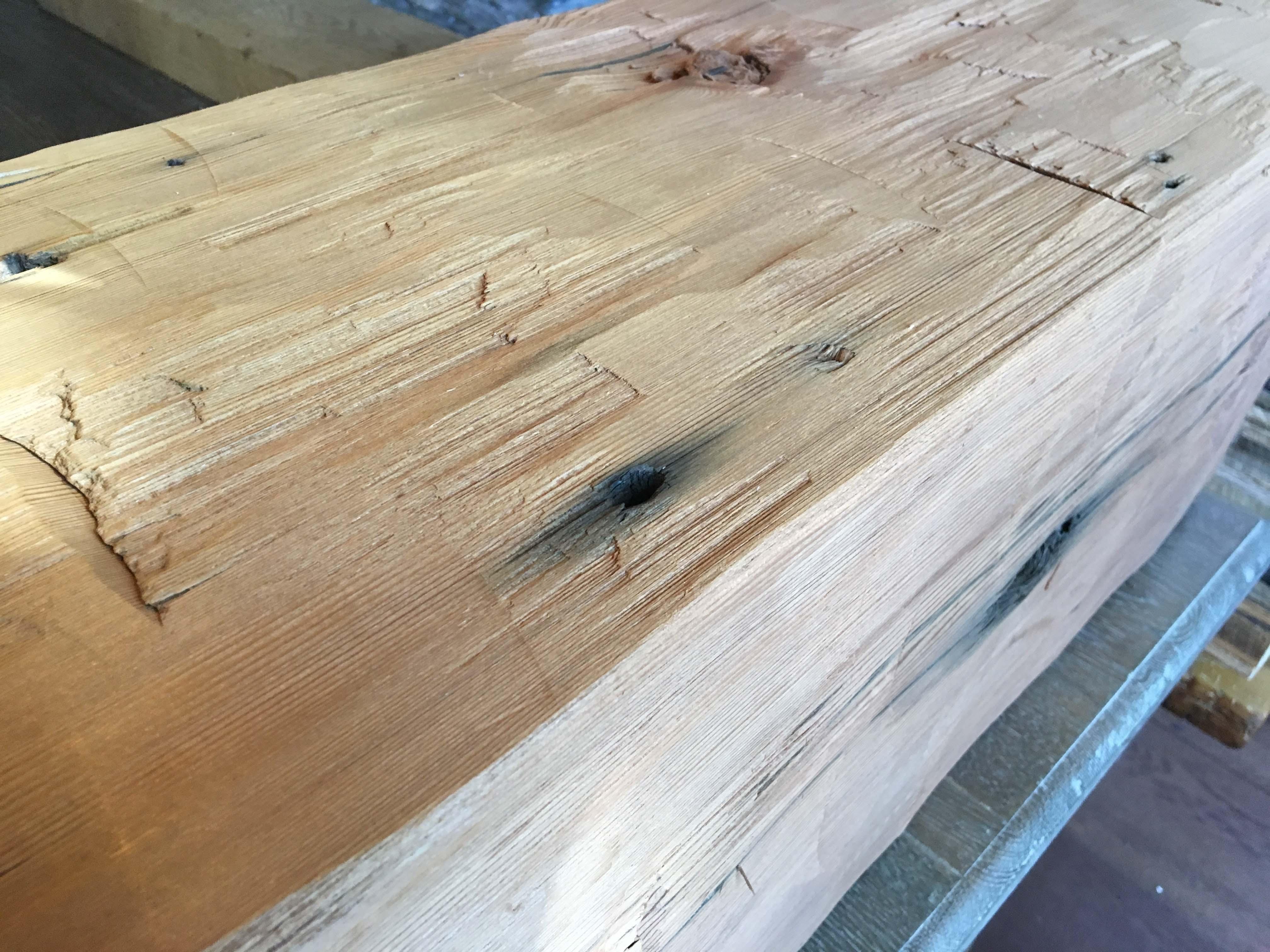 hewn redwood beams02 - Vintage Reclaimed Redwood