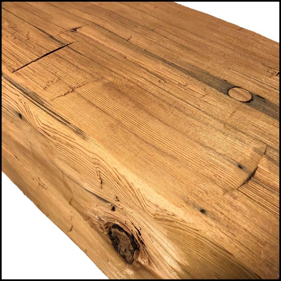 hewn redwood beams04 - Vintage Reclaimed Redwood