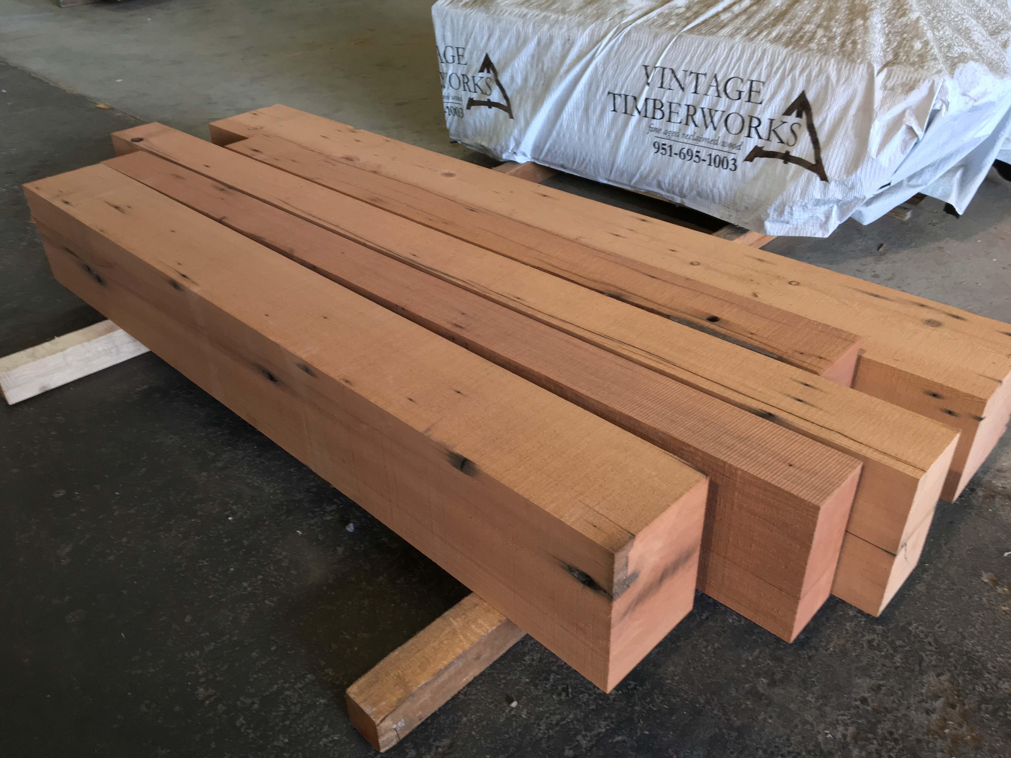 resawn redwood beams03 - Vintage Reclaimed Redwood