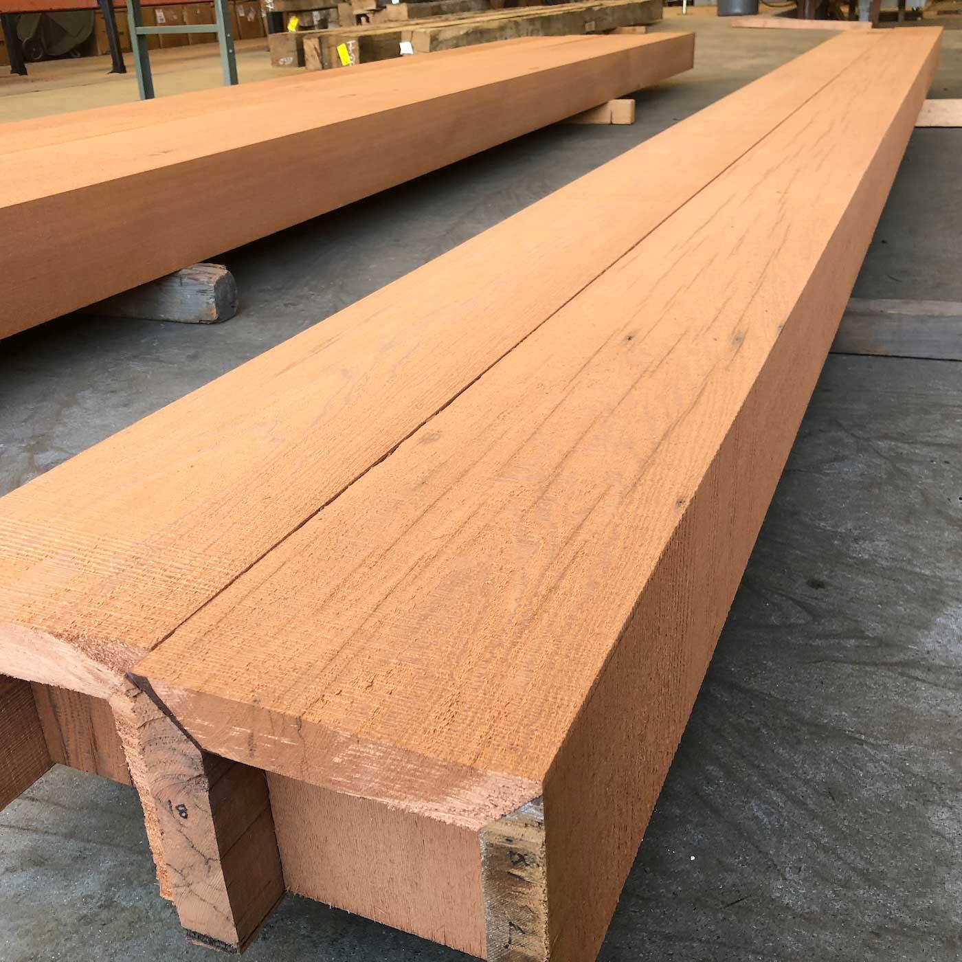 resawn redwood box beams - Box Beam Fabrication