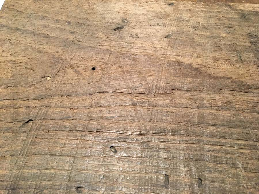 sanded chestnut detail - Reclaimed Planking Wormy Chestnut