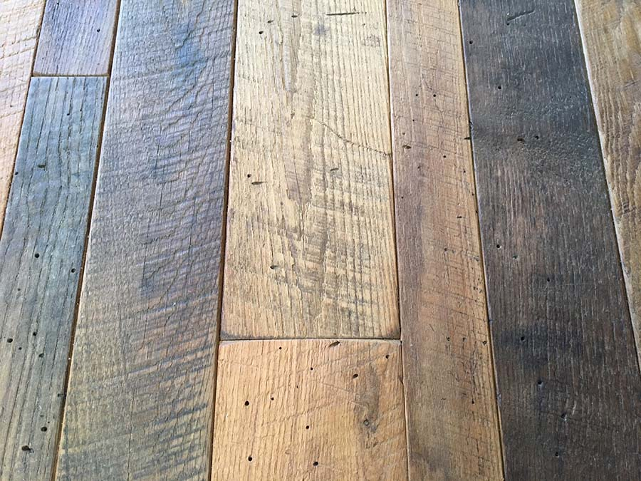 sanded chestnut oil finish - Reclaimed Planking Wormy Chestnut