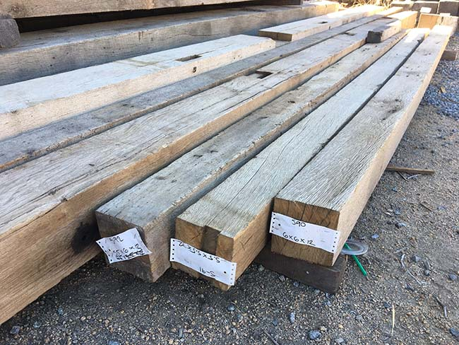 sawn hardwood beams - Reclaimed Hardwood Barn Timbers
