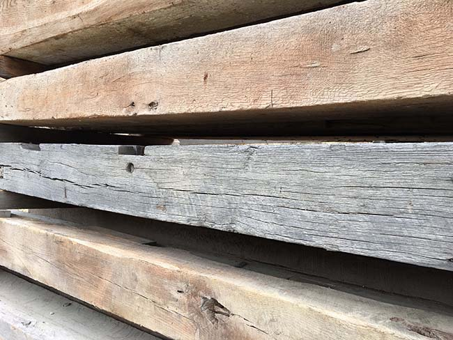 sawn hardwood beams02 - Reclaimed Hardwood Barn Timbers