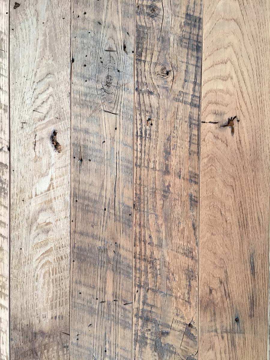 semi surfaced chestnut barnwood planking - Reclaimed Planking Wormy Chestnut