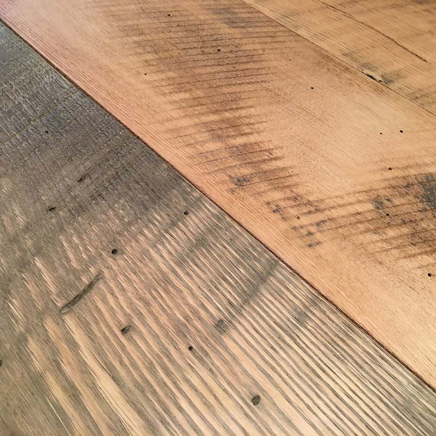 semi surfaced chestnut tab - Reclaimed Planking Wormy Chestnut