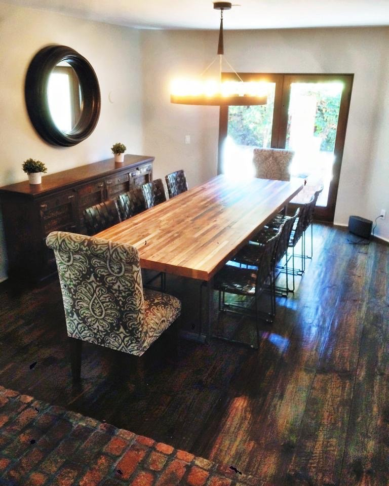 semi surfaced douglas fir table top - Reclaimed Planking Douglas Fir