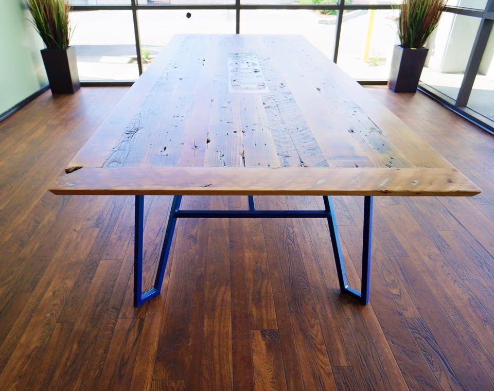 semi surfaced douglas fir table top2 - Reclaimed Planking Douglas Fir
