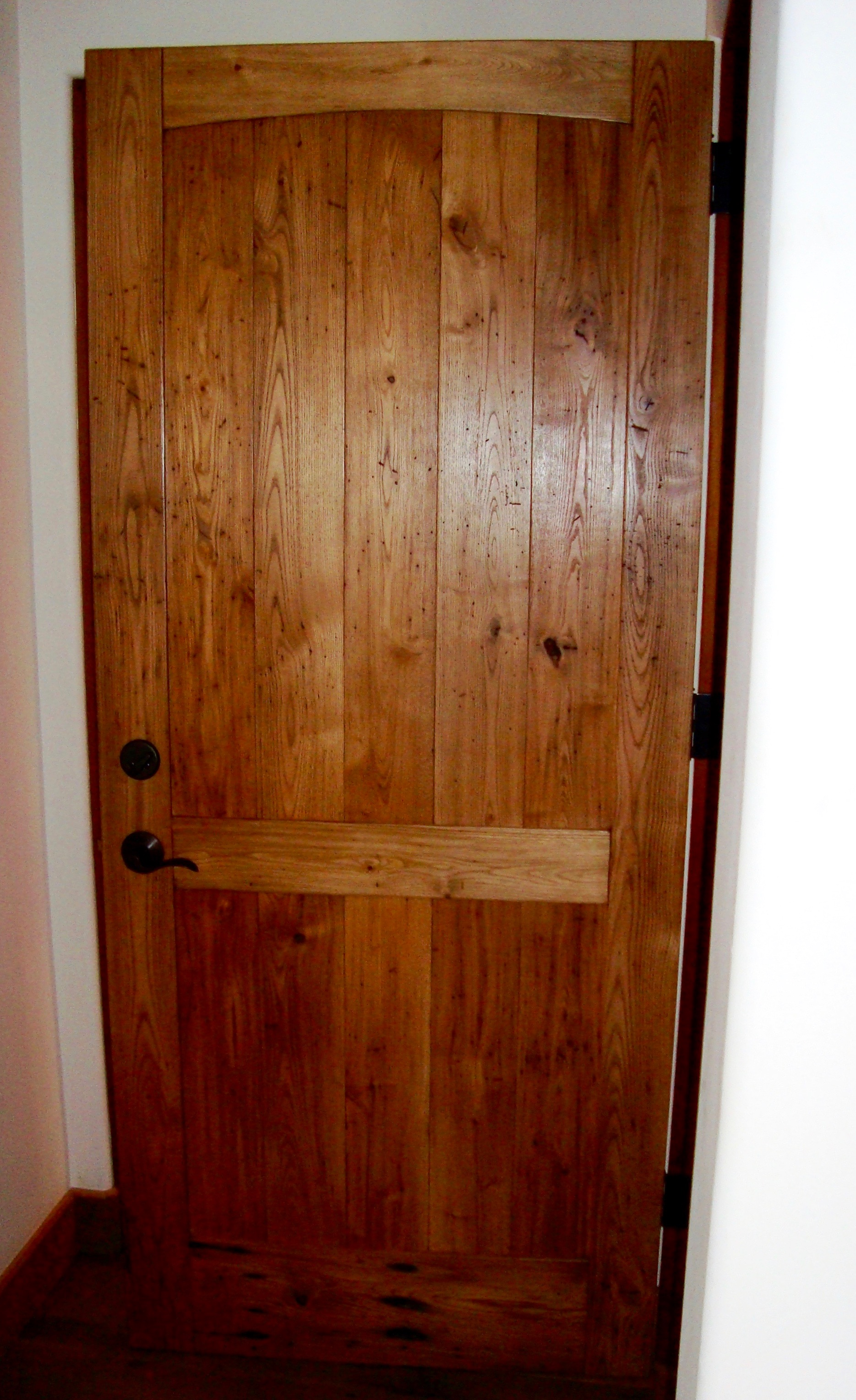 surfaced chestnut door - Reclaimed Planking Wormy Chestnut