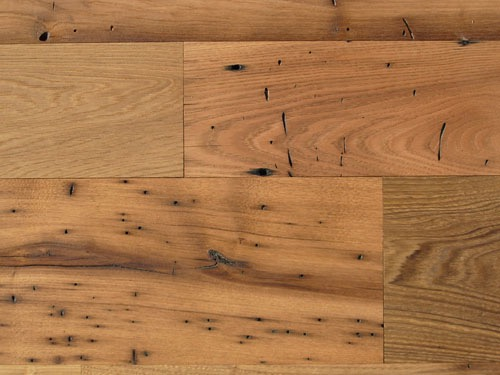 surfaced chestnut oil finish - Reclaimed Planking Wormy Chestnut