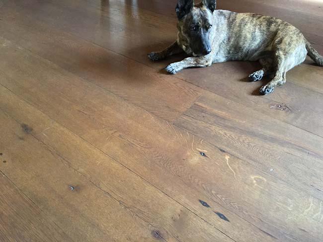 wide oak flooring02 - Reclaimed Barn Oak